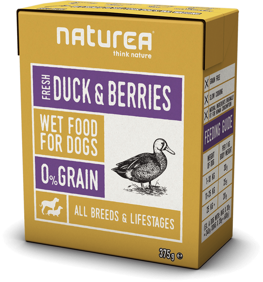 Naturea Húmida cão duck & berries 375g